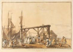 JOHN HILL AFTER PHILIP JAMES DE LOUTHERBOURG 'Margate with the Arrival of the Hoy' and 'Margate,