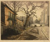 MARCEL HARANG (b.1910) 'Lapin Agile a Montmartre, Paris', signed and titled in pencil, coloured