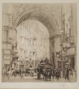 WILLIAM WALCOT (1874-1943) 'The Arc San Carlo, Naples', etching, pencil signed in the margin, 17.5 x