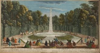 AFTER JACQUES RIGAUD 'The Obelisk in the Garden at Versailles', engraving published by John