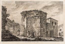 JACQUES-PHILIPPE LE BAS AFTER JULIAN-DAVID LE ROY Vue de la Tour des Vents à Athene, etching, pl.