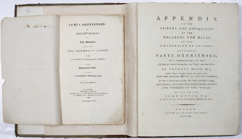 'Curia Oxoniensis: or Observations on the Statutes which relate to the University Court on the - Image 2 of 2