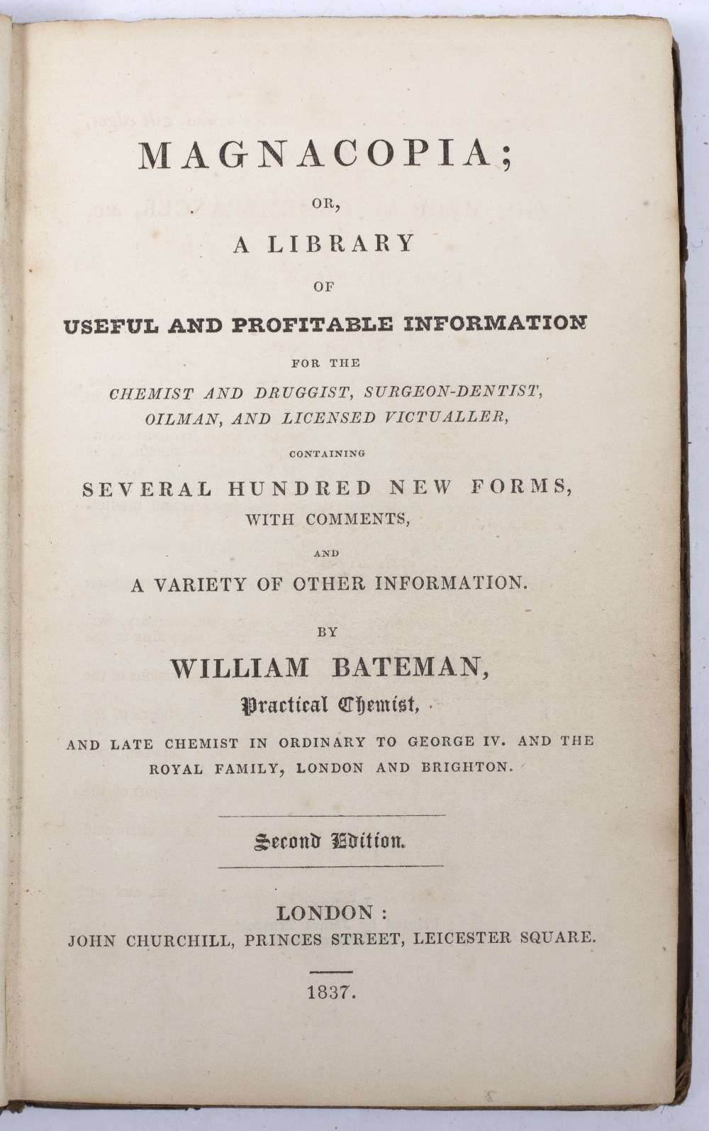 BATEMAN, William, 'Magnacopia' or A Library of Useful and Profitable Information for the