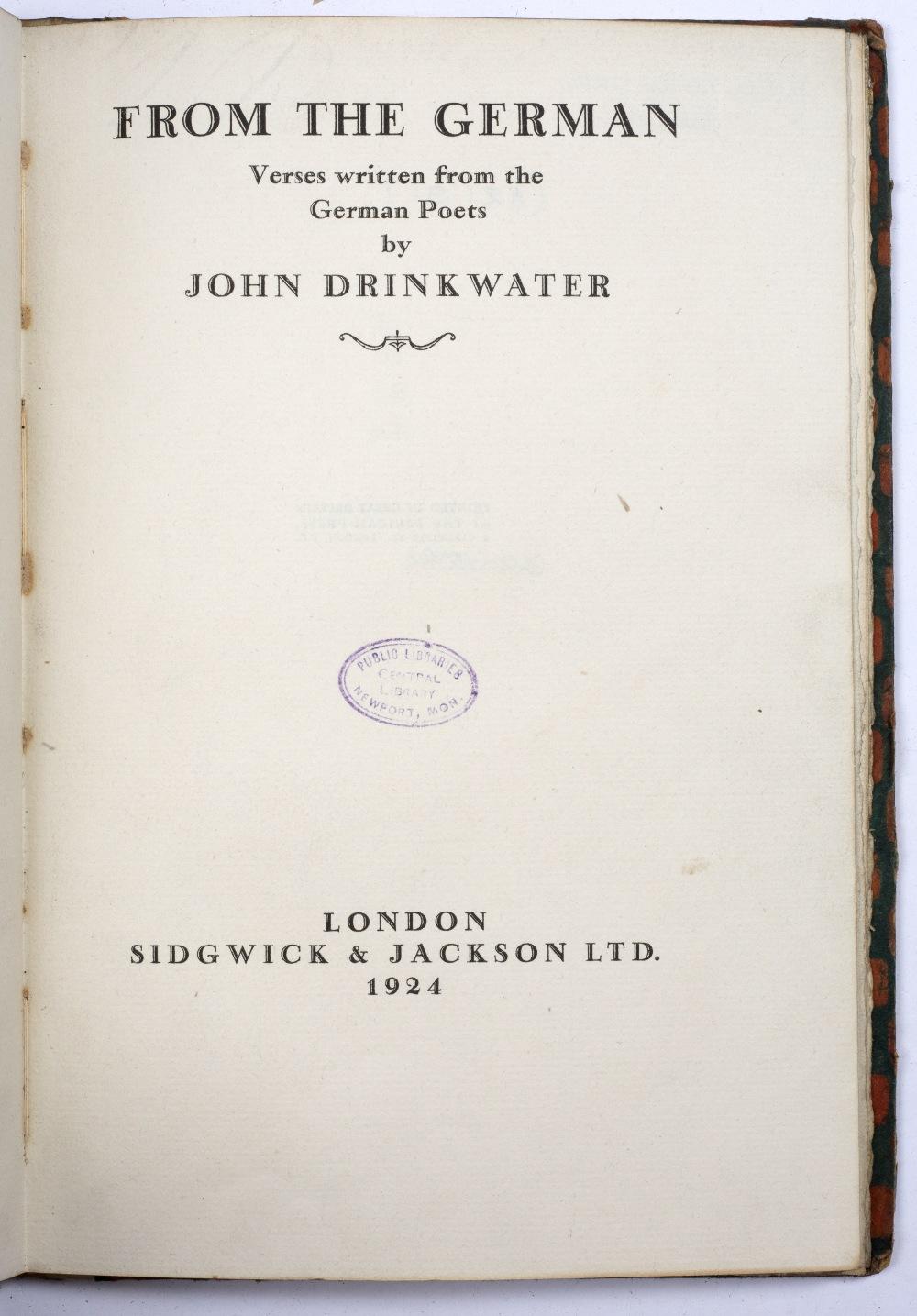 GRAVES, Robert (1895-1985), English Poet Poems (1914-1926), Heinemann, London 1927. B/w speckled - Image 3 of 3