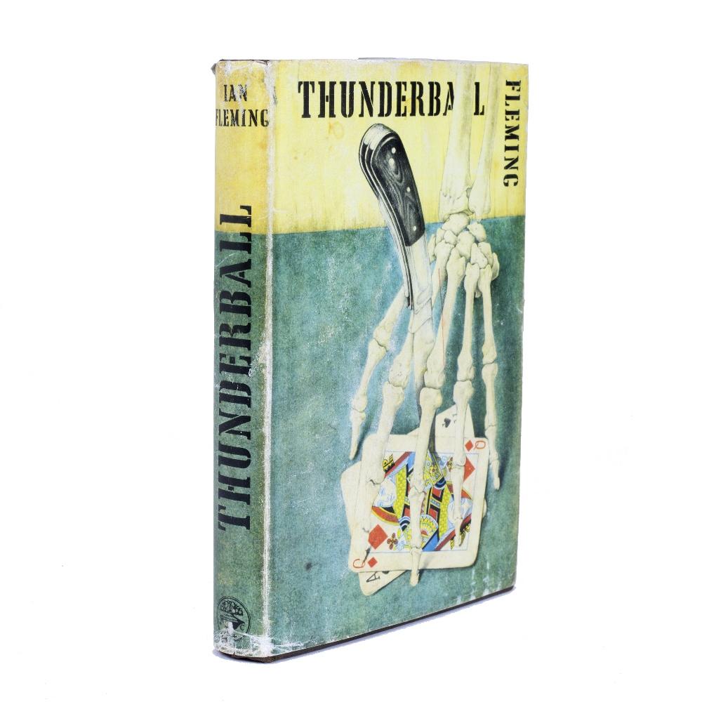 FLEMING, Ian, Thunderball. 1st Edition. London, Jonathan Cape, 1961. Original brown skeletal hand