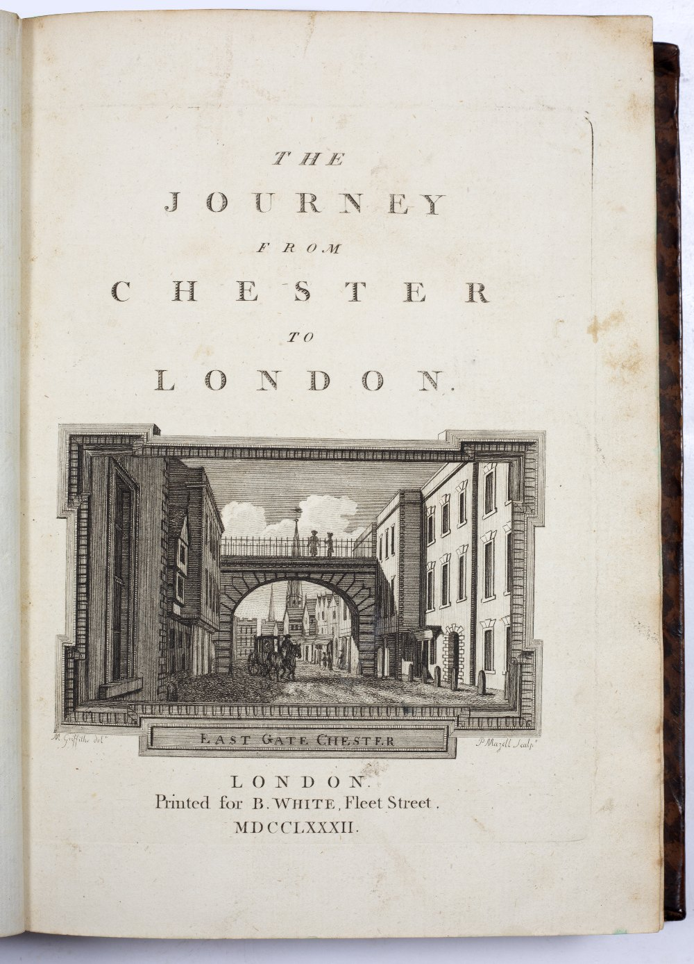 PENNANT, Thomas, 'The Journey From Chester to London'. B White, London 1782, vignette of East Gate - Image 2 of 4