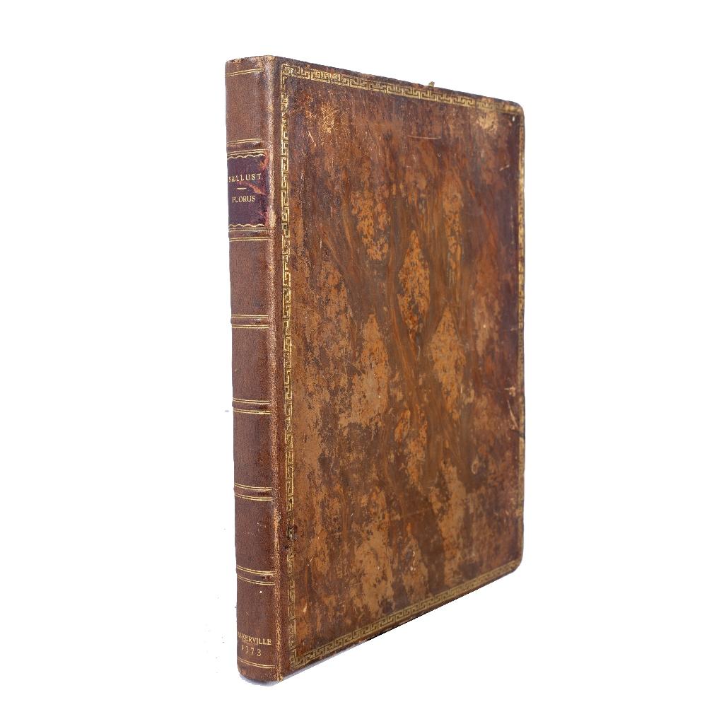 SALUSTIUS, C. Crispus, Roman Historian. 'Florus', Baskerville, Birmingham 1773. 317pp. Tree calf - Image 2 of 2