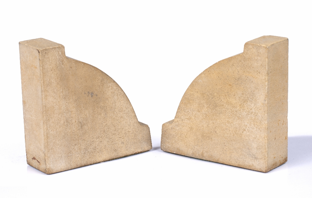 A PAIR OF STONE BOOKENDS part of the structure of The Houses of Parliament damaged by enemy air - Image 3 of 4