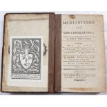 HERVEY, James, English Clergyman and Writer (1714-1758) Lincoln College Oxford 'Meditations and