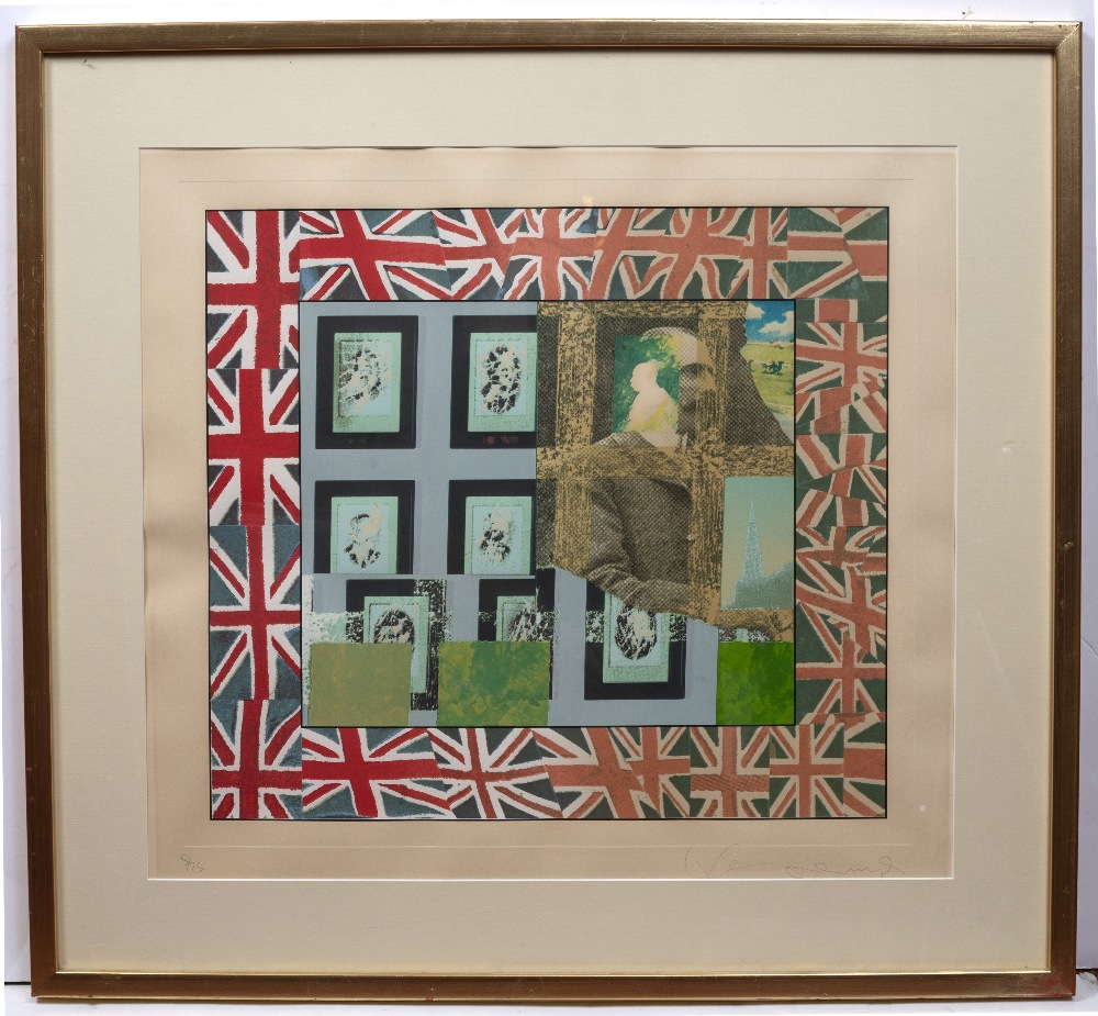 TOM PHILLIPS (b.1937) Elgar (from The Composers series), screenprint, pencil signed in the margin - Image 2 of 2