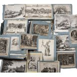 AN ALBUM OF MANY PRINTS AND ENGRAVINGS, 17th Century and onwards, to include 44 strikes after