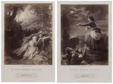 A SET OF THREE PHOTOGRAVURES, each titled 'Richard Wagner Gallerie' and printed with characters from