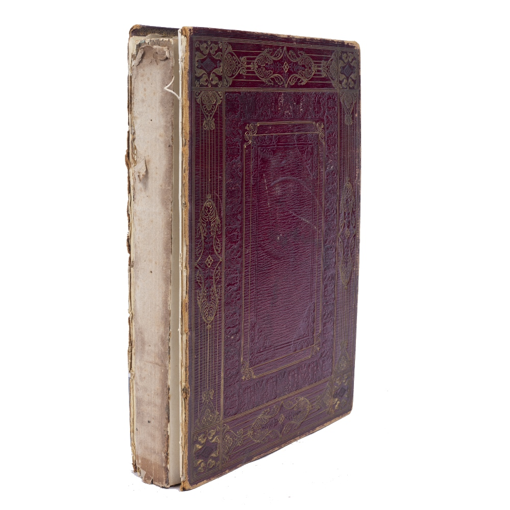 A VICTORIAN SCRAP ALBUM containing sketches, postcards, prints etc., Isle of Wight, London, etc. - Image 2 of 2
