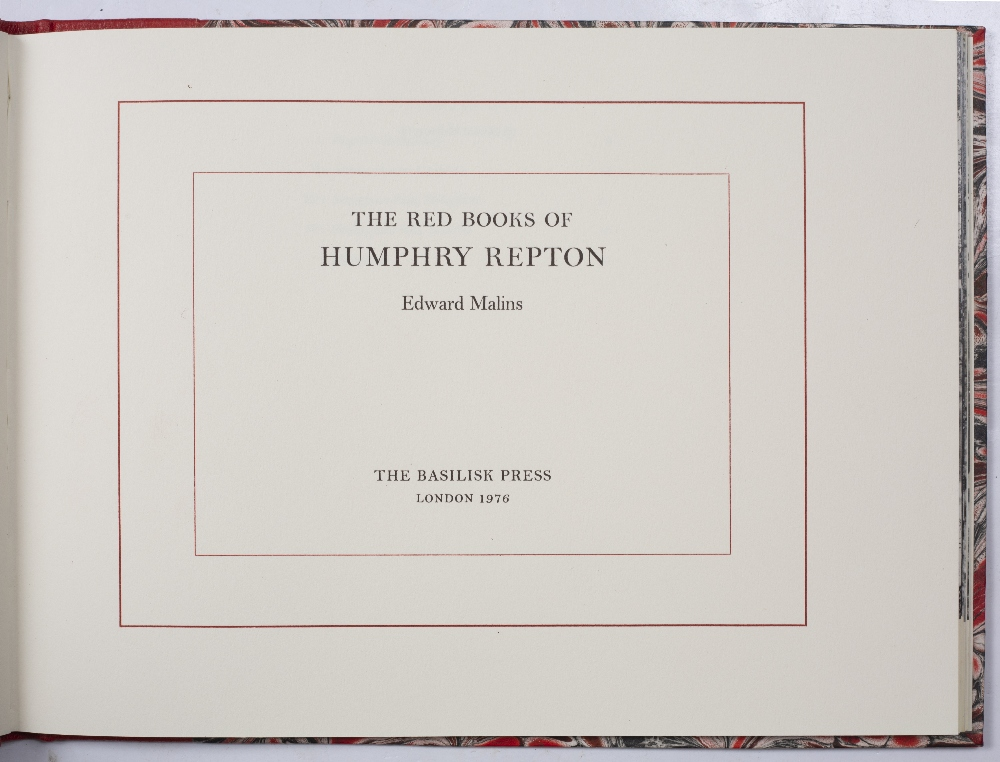 REPTON, Humphrey, The Red Books of Humphrey Repton, 4 vols. Facsimile, limited Ed. No. 91/500 to - Image 2 of 6