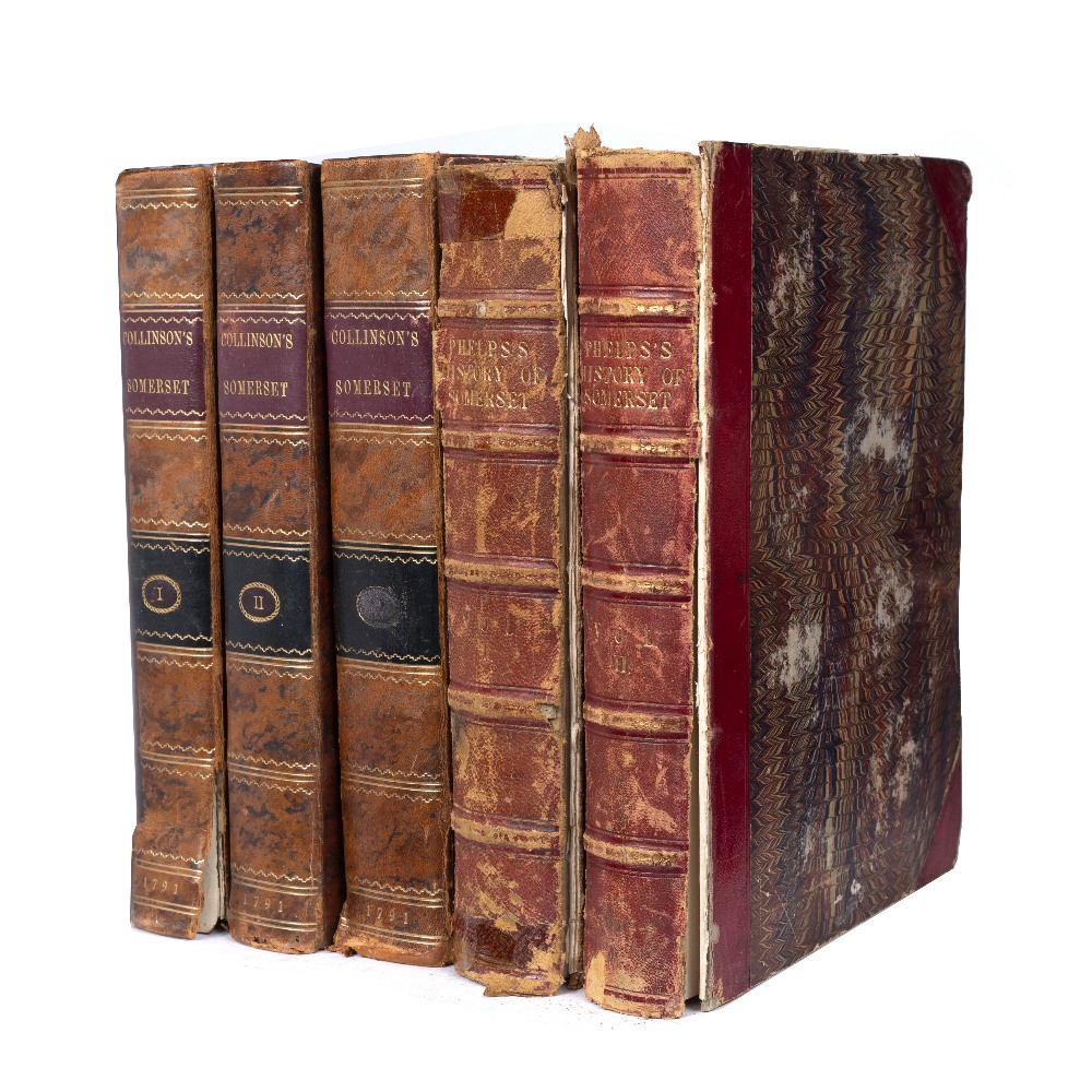 SOMERSET:- COLLINSON, Rev. John, The History and Antiquities of the County of Somerset. 3 vols. 4to.