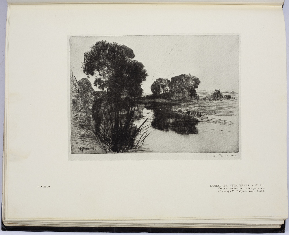 HIND, Arthur M, The Etchings of D.Y. Cameron, Halton & Truscott Smith, London 1924. 4to. Gilt tooled - Image 4 of 5