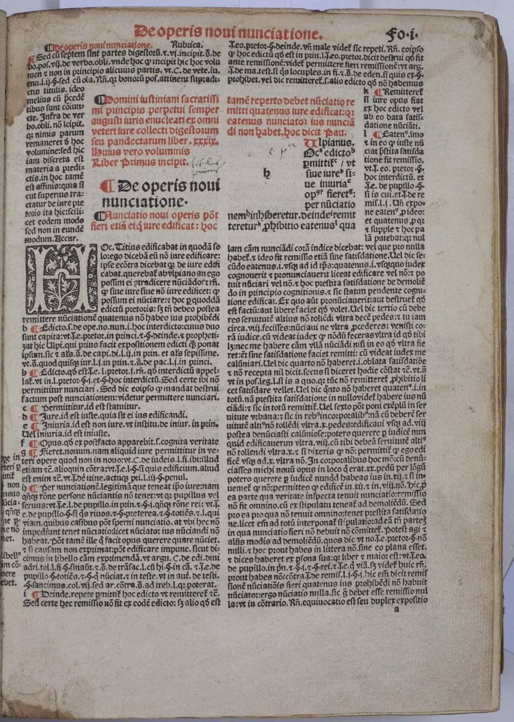 BOUCARD, ANDREAS (Ed.), Justinian, Digestorum Seu Pandectar, Joannis Petit, Paris 1525. 12 books - Image 2 of 5