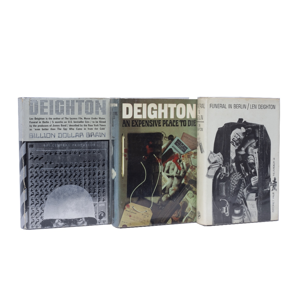 DEIGHTON, Len (b. 1929) A group of three titles all with d/ws vis:- An Expensive Place to Die. First