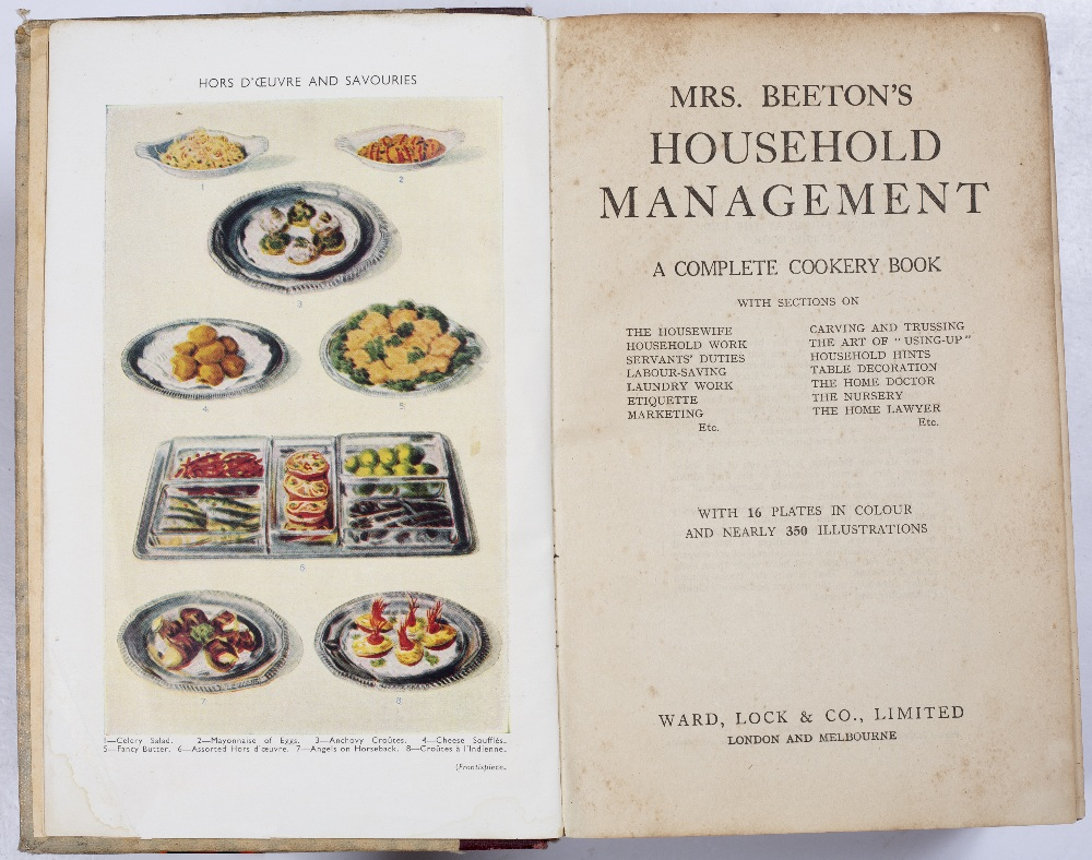 COOKERY INTEREST: 'Mrs Beeton's Household Management'. New edition, Ward Lock, London. Thick 4to - Image 2 of 2