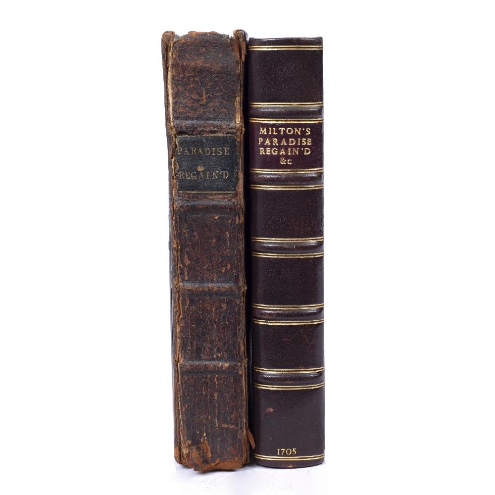 MILTON, John (1608-1674), English Poet 'Paradise Regained'. 4th Ed. Jacob Tonson, London 1705. - Image 3 of 3