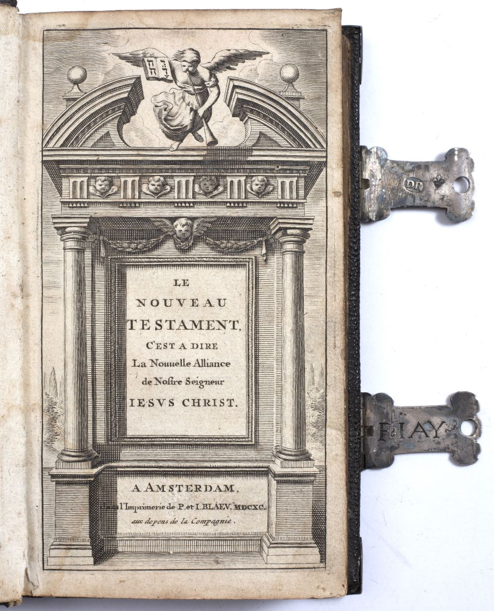 A 17TH CENTURY FRENCH MINIATURE NEW TESTAMENT and the Psalms of David translated into French by