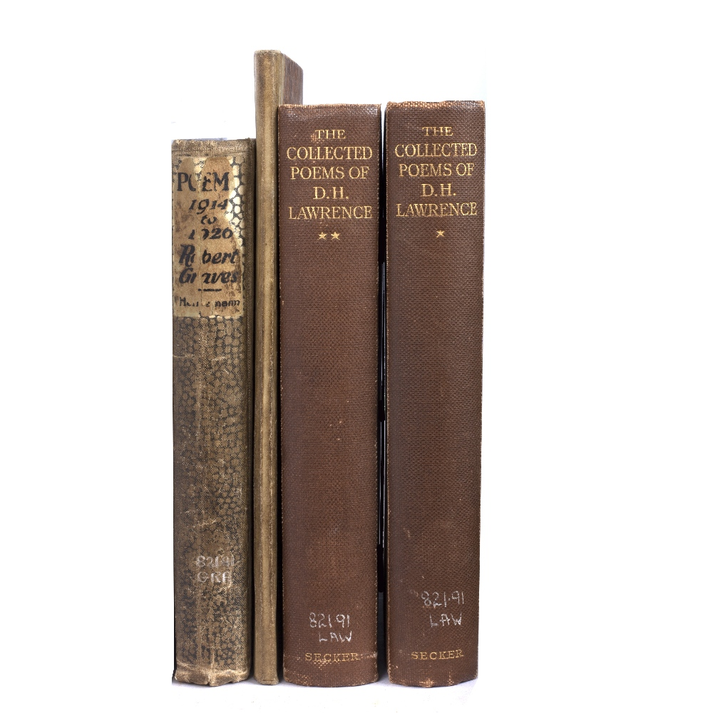 GRAVES, Robert (1895-1985), English Poet Poems (1914-1926), Heinemann, London 1927. B/w speckled