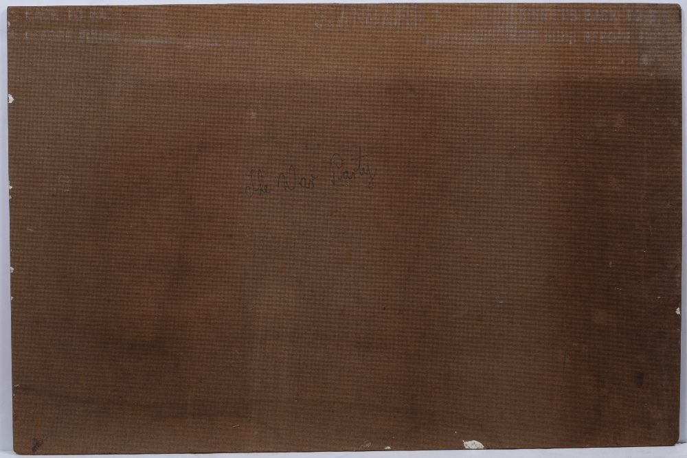 AN AUSTRALIAN ABORIGINAL PAINTING, Queensland, Monington Island 'The War Party', by Dick Roughesy, - Image 2 of 2