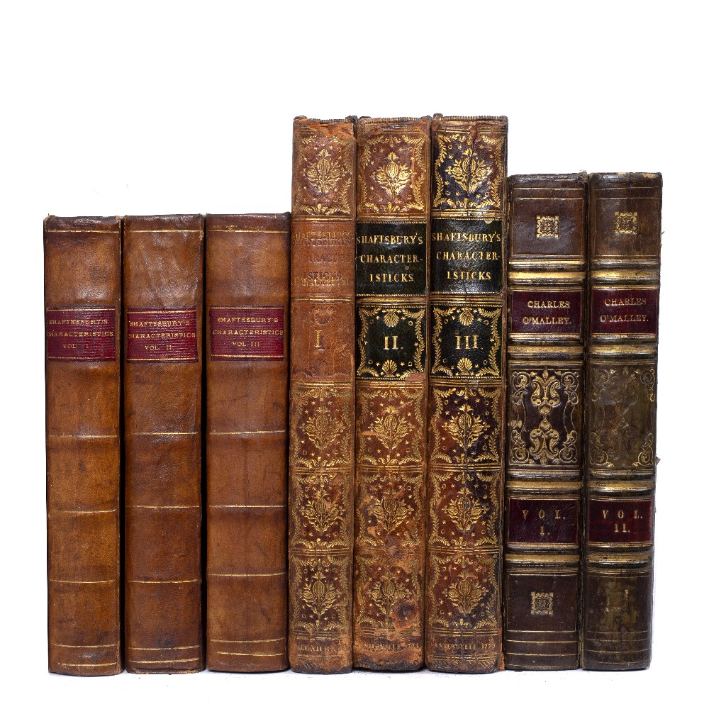 SHAFTESBURY, Anthony, Earl of, Characteristicks of Men, Manners, Opinions, Times. 3 vols. 4to. ( - Image 2 of 2