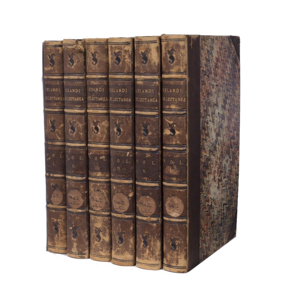 HEARNE, Thomas, Ed. John Leland (c1503-1552) Antiqarii de Rebus Britannicus Collectanea. Editio