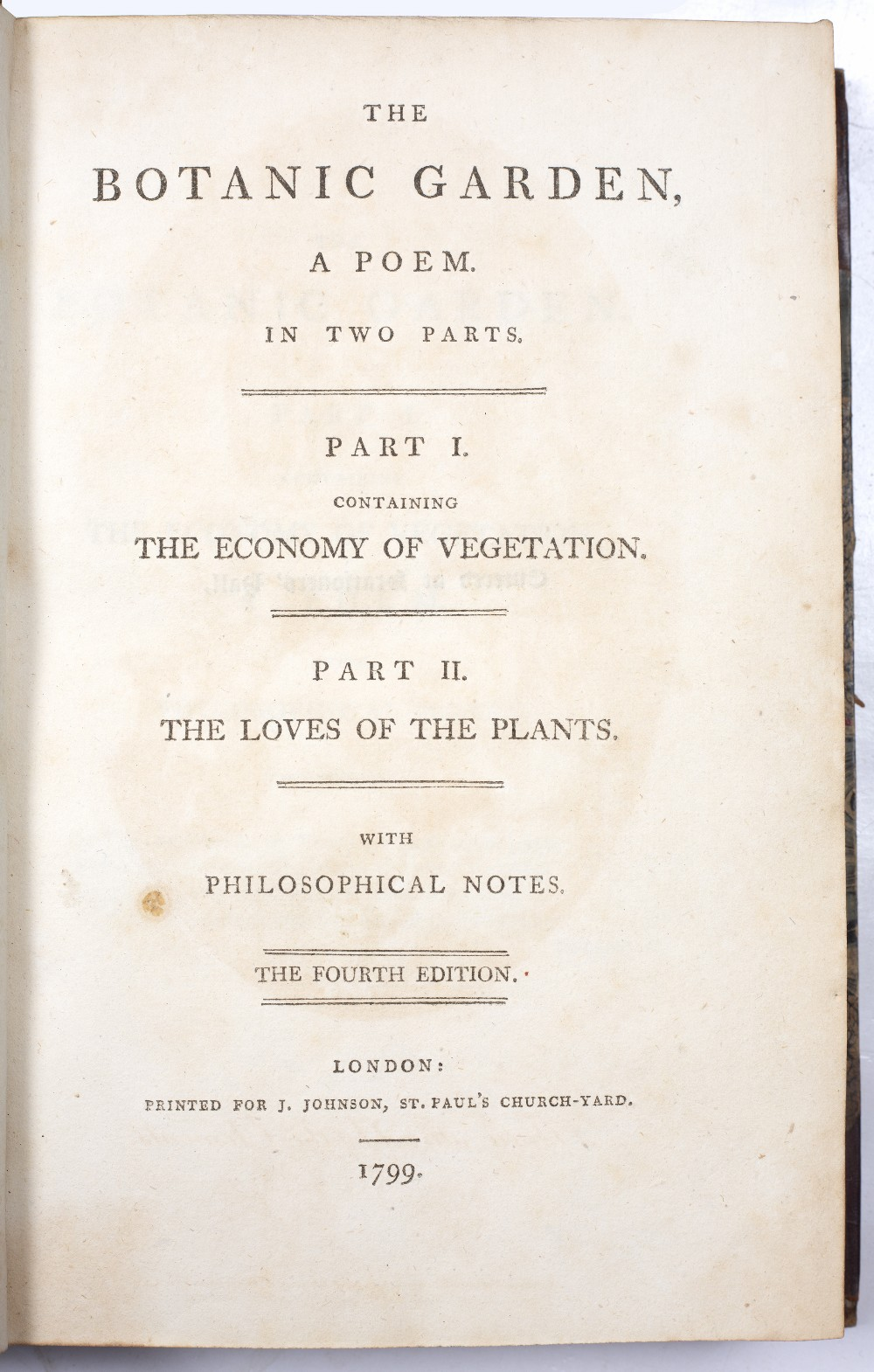 DARWIN, Erasmus (1731-1802), Philosopher and Physician 'The Botanic Garden' A Poem in Two Parts. - Image 2 of 7