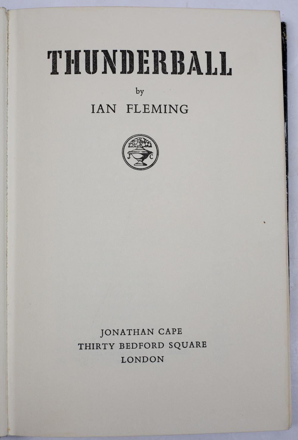 FLEMING, Ian, Thunderball. 1st Edition. London, Jonathan Cape, 1961. Original brown skeletal hand - Image 2 of 3
