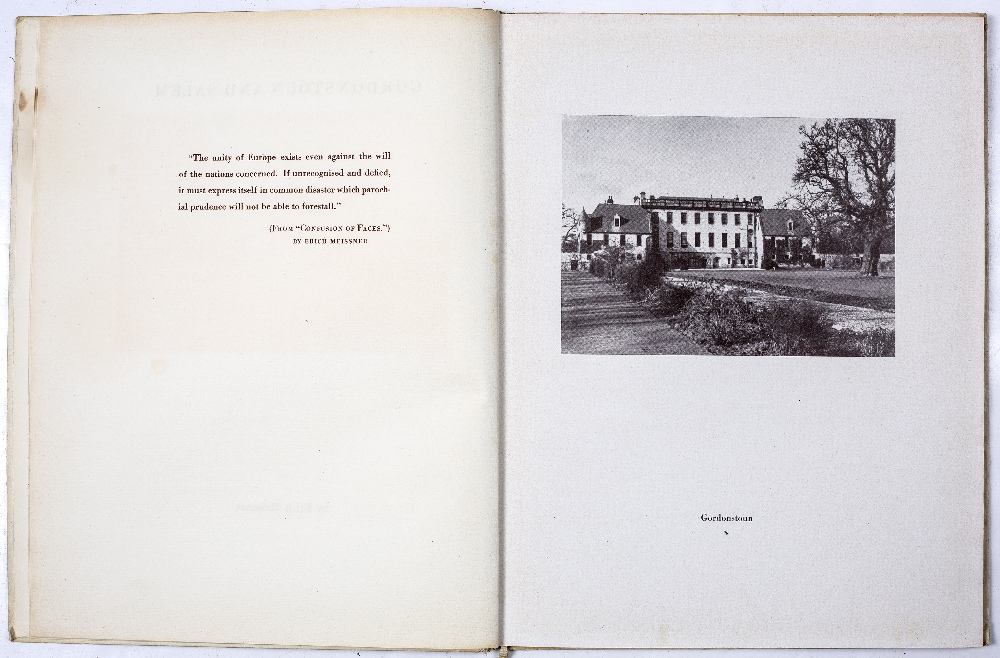 Gordonstoun, Ancient Estate and Modern School by Henry L Brereton (Warden of Gordonstoun), Chambers, - Image 2 of 2
