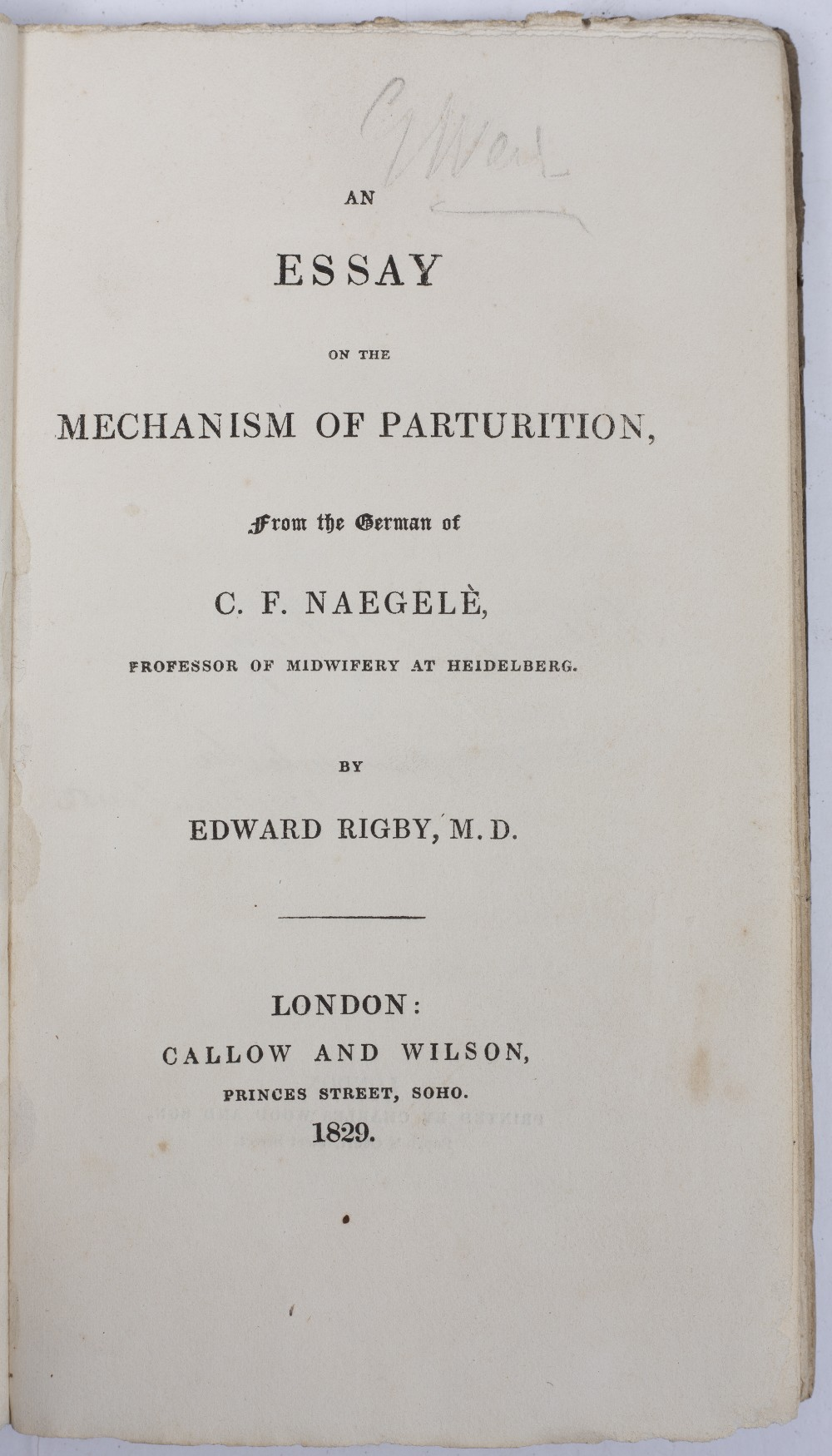 LOBB, Theophilus, A Compendium of the Practice of Physick. Buckland, London 1749. 80pp. rebound 1/ - Image 4 of 4