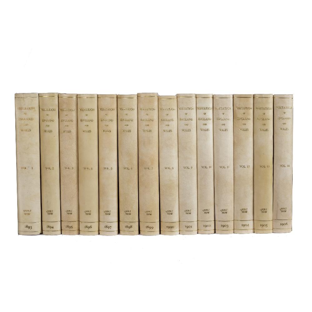 HOWARD, Joseph Jackson and CRISP, Frederick Arthur, Visitation of England & Wales. 14 vols. 4to.
