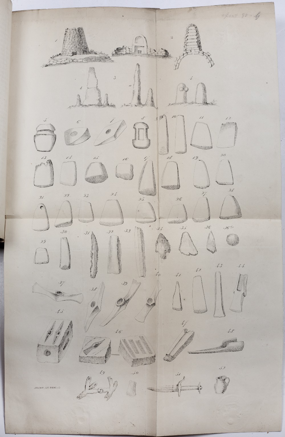 A COLLECTION OF PUBLISHED PAPERS on Archaeology from the Library of F Chabas. French and Italian. - Image 3 of 3