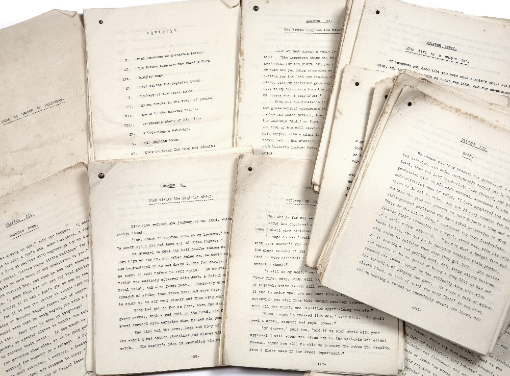 A TYPED M/S OF A NOVEL entitled 'Dick in search of Felicitas'. 39 chapters, Author unknown