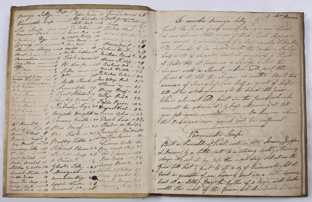 COOKERY: A late 18th Century manuscript recipe book written in black ink in a good long hand with - Image 3 of 3