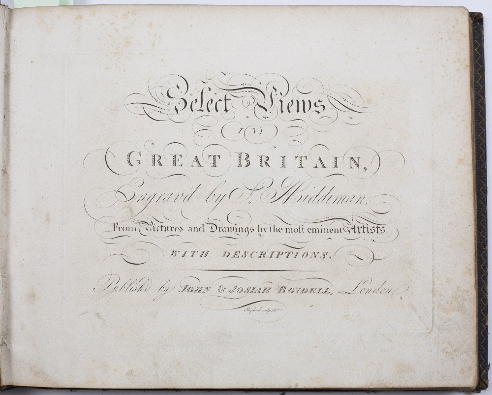 BOYDELL, John & Josiah, ( Publishers), 'Select Views in Great Britain engraved by S Middiman from - Image 2 of 7