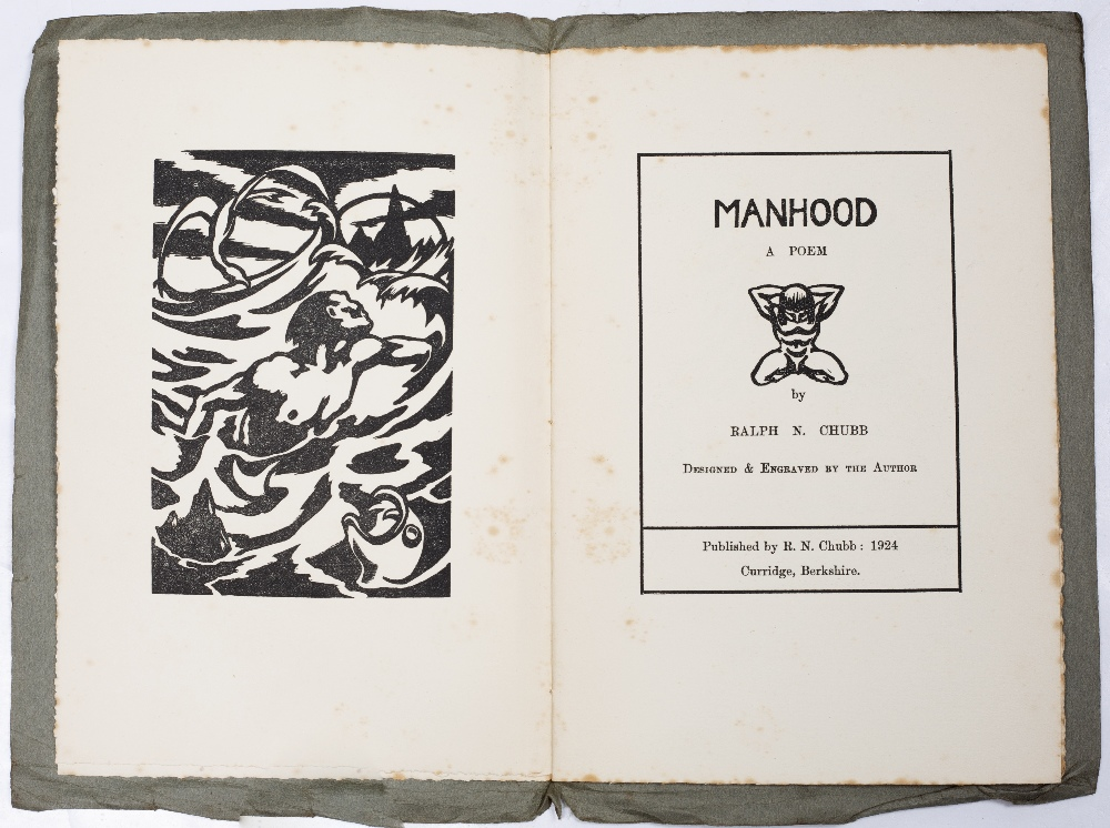 CHUBB, Ralph Nicholas (1892-1960), English Poet and Printer Songs of Mankind decorated with wood - Image 4 of 5