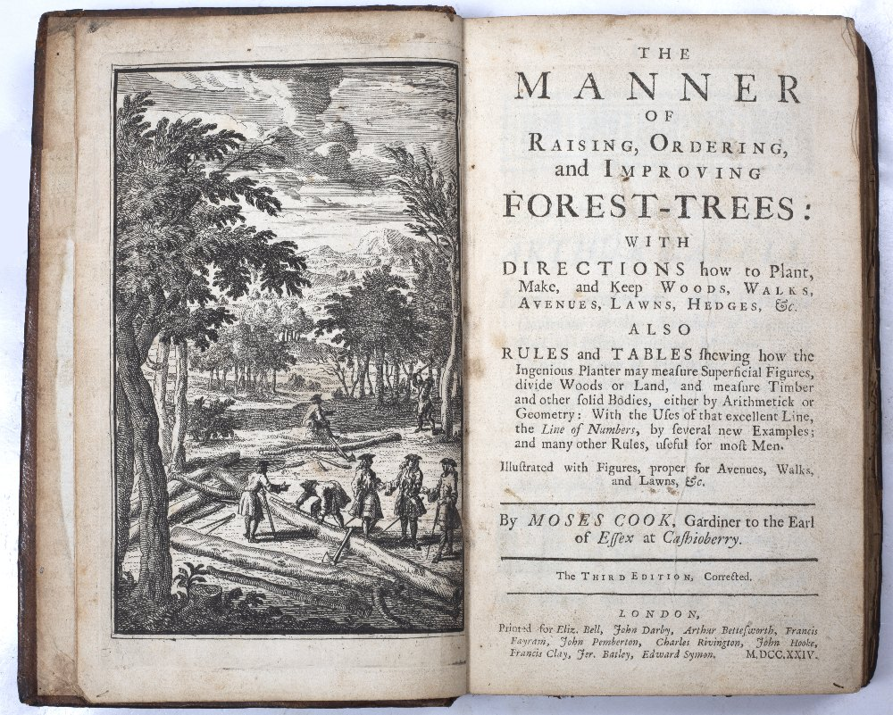 COOK, Moses, The Manner of Raising, Ordering and Improving Forest-Trees with directions how to