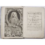 HANDEL, George Frederic, 'Alexanders Feast or the Power of Musick. An Ode wrote in Honour of St