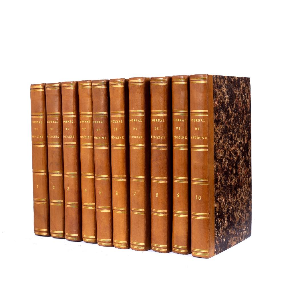 BIRON and FOURNIER, Eds. Journal de Médecine de Chirurgie et de Pharmacie Militaires. 10 vols.