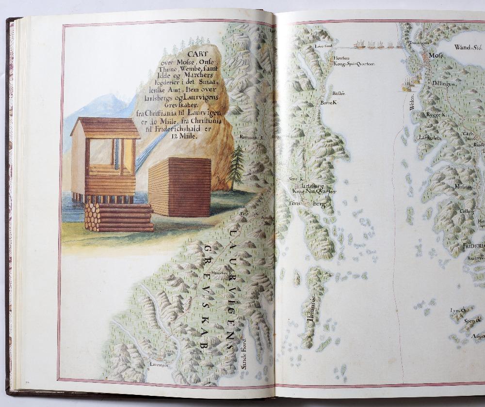 Norske Reise. Anno 1733. Facsimile. Poul Kristensens Forlag 1992. Fo in slip case. Some damp
