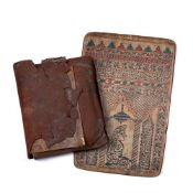 AN ANTIQUE ISLAMIC MANUSCRIPT, possibly a 19th Century Quran, disbound with tears, within a