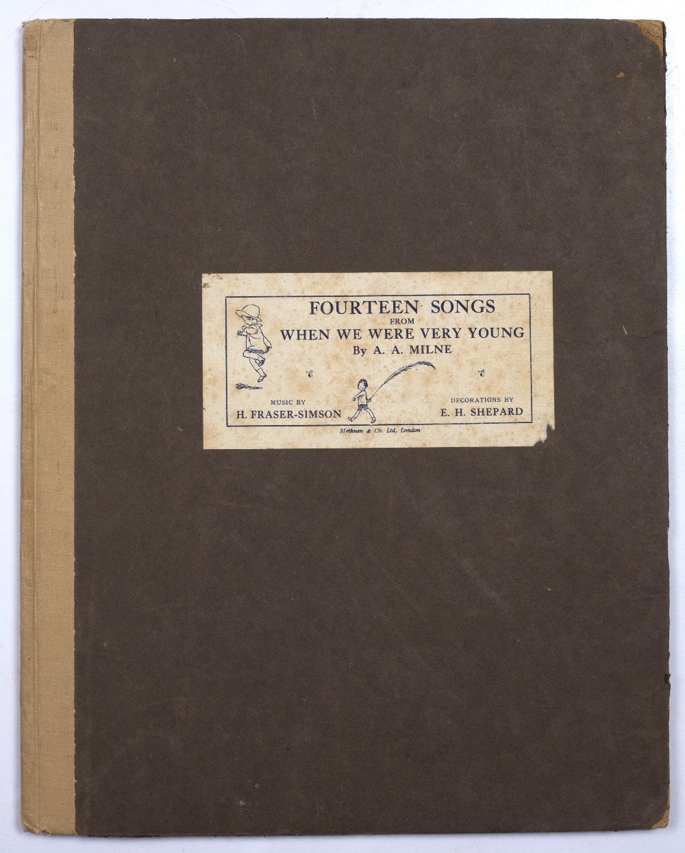 MILNE, A.A. 'Fourteen Songs from When We Were Very Young' music by H Fraser-Simson, E.H. Shephard.