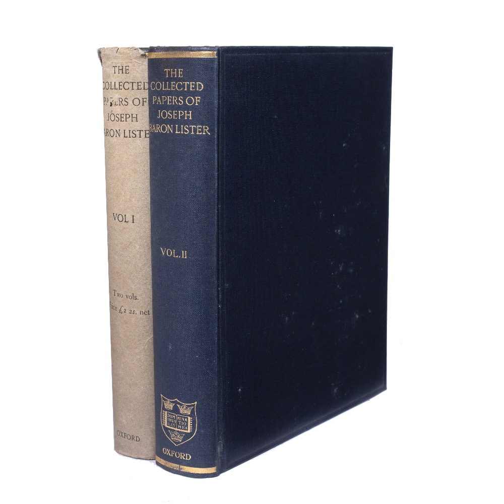 LISTER, Baron Joseph (1827-1912) British Surgeon 'The Collected Paper's thereof. 2 vols. 4to.
