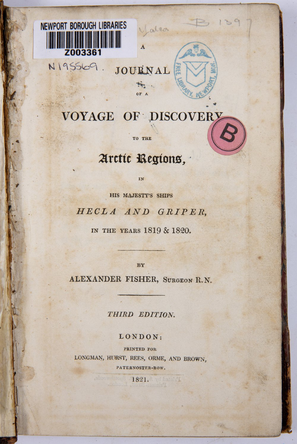 FISHER, Alexander, A Journal of a Voyage of Discovery to the Arctic Regions in His Majesty's Ships - Image 2 of 5
