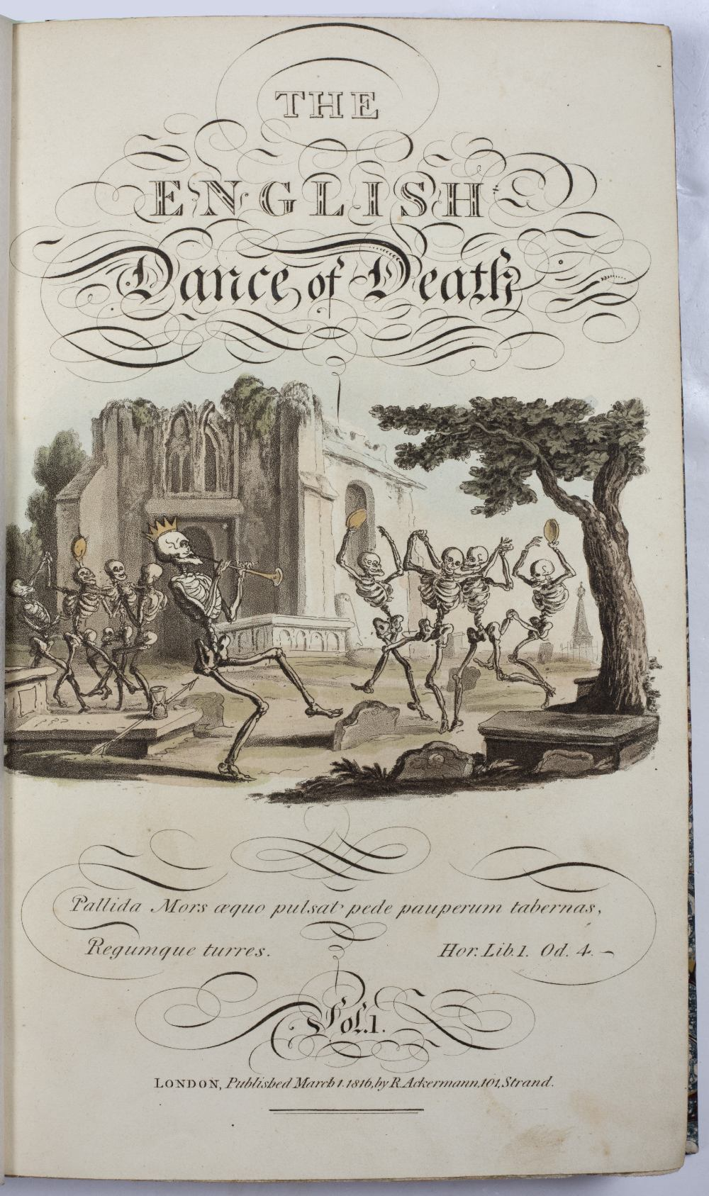 COOMBE, William and ROWLANDSON, Thomas, Illus. 'The English Dance of Death'. 2 Vols. Ackermann, - Image 3 of 5