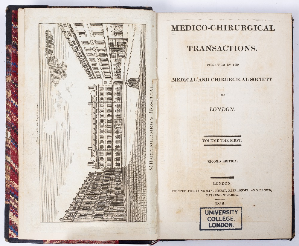 MEDICAL-CHIRURGICAL SOCIETY. Transactions. 7 vols. Longmans et al. London 1872/1876. Ex lib. (