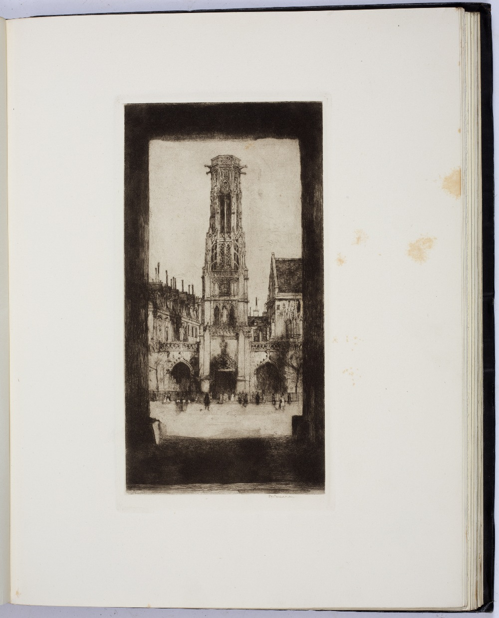 HIND, Arthur M, The Etchings of D.Y. Cameron, Halton & Truscott Smith, London 1924. 4to. Gilt tooled - Image 5 of 5